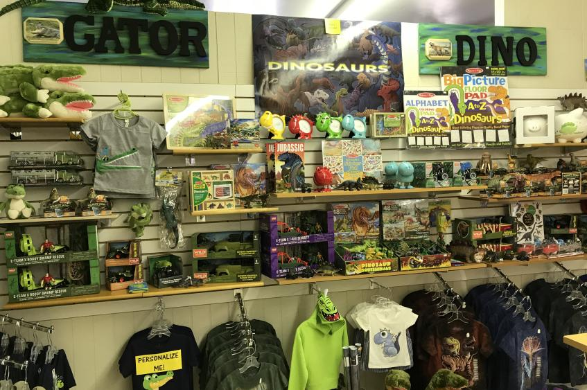 Gator and Dino Section