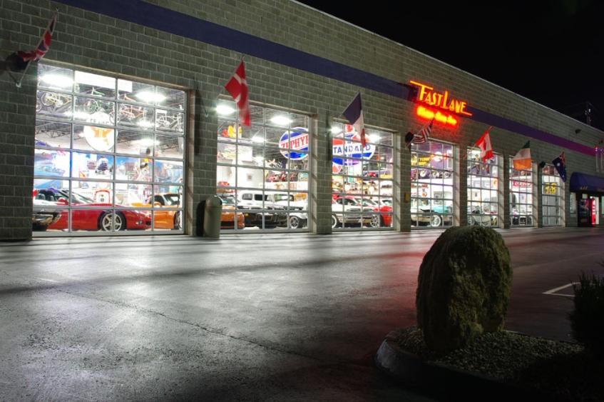Fast Lane Cars - Night Exterior