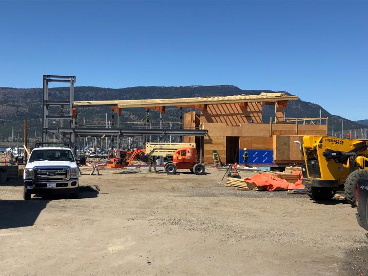 Photo of New Visitor Centre Construction