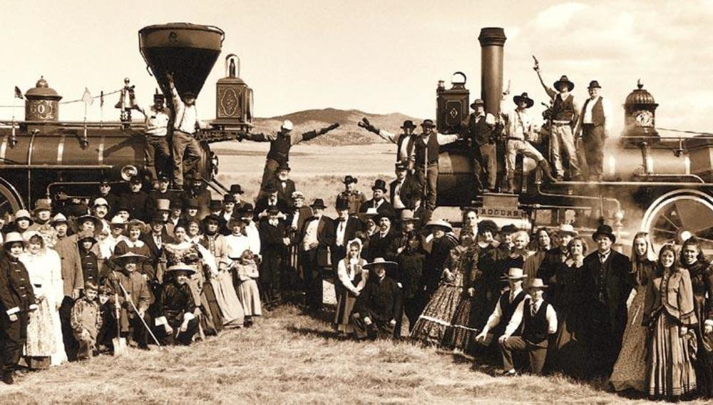 Golden Spike Railroad Ceremony