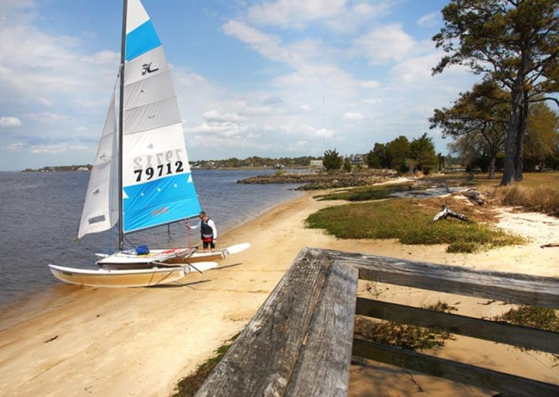 Sailboat at Carolina Beach State Park