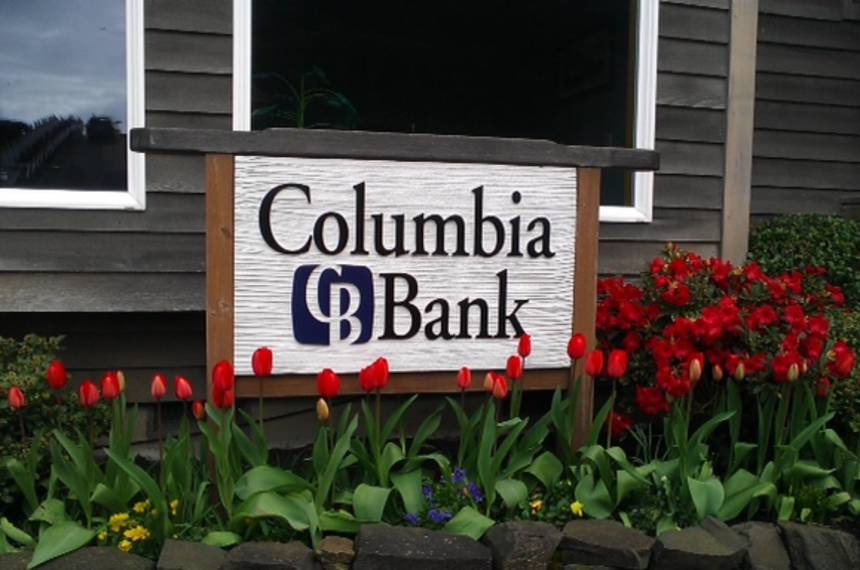 Sign with tulips