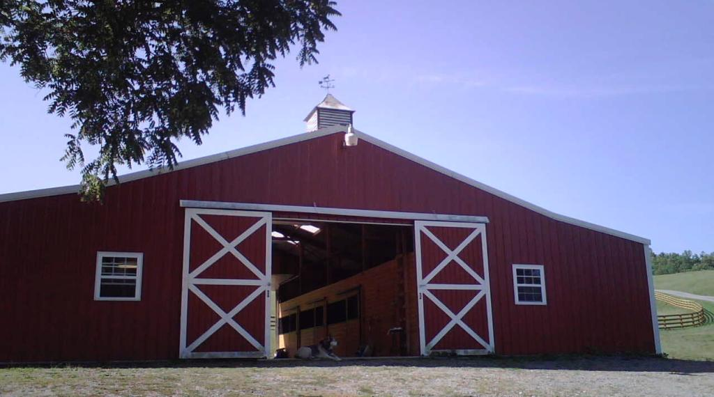 Light and airy barn