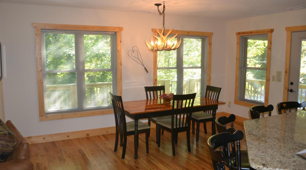 Dining Room of Chimney Rock River Cabin