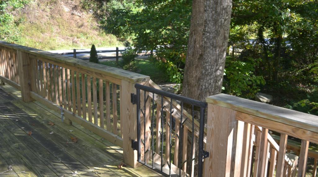 Side Porch of Chimney Rock Cabin