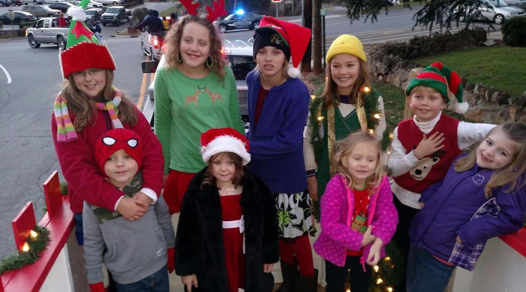 Kids enjoying the parade
