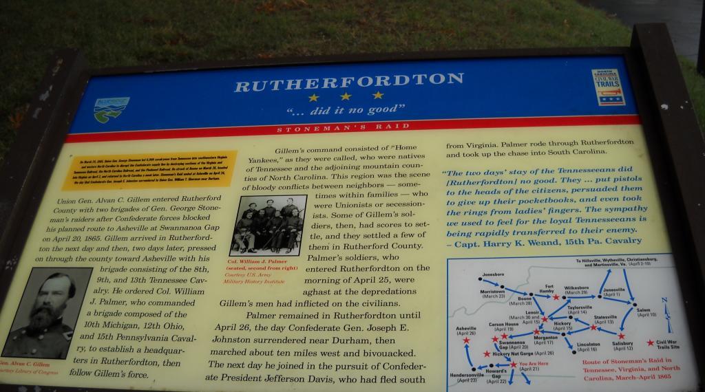 Rutherfordton Civil War Marker