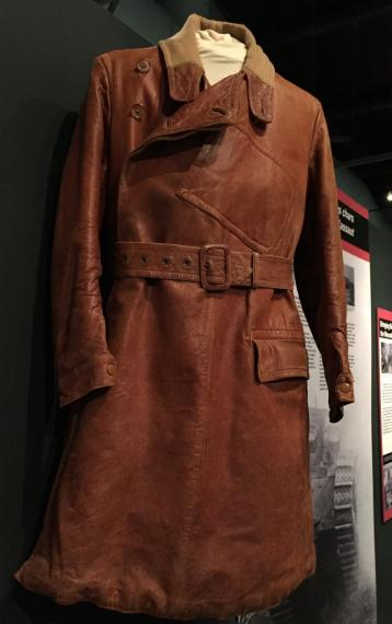 Pilot jacket on display at Royal Canadian Artillery Museum on CFB Shilo, Manitoba