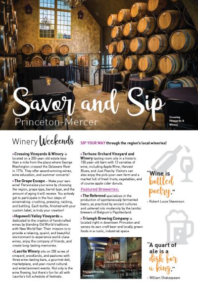 Sip savor visitors guide page