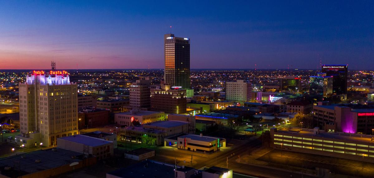 downtown amarillo skyline