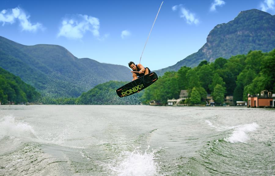 Wakeboaring on Lake Lure