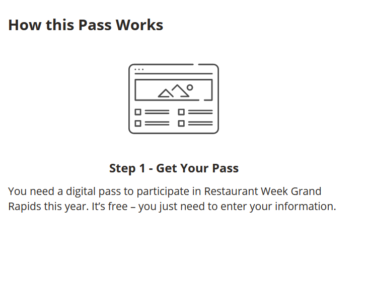 Step 1 - Get your pass