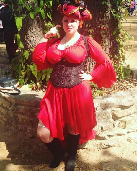 Natalie dressed as a Pirate | Louisiana Pirate Festival