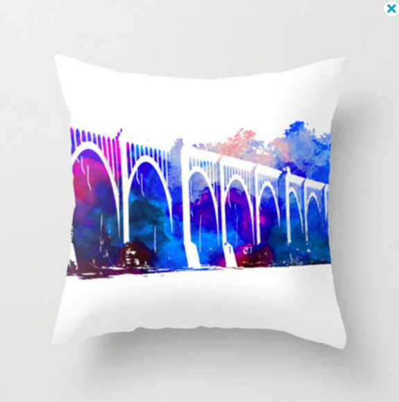 CSX train bridge pillow