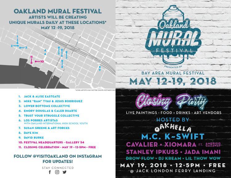 Oakland Mural  Festival Map