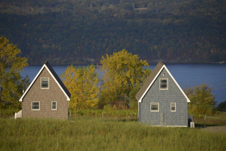Vineyard Villas overlooking the lake.