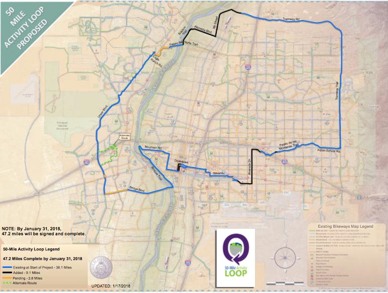 50 Mile Activity Loop Map