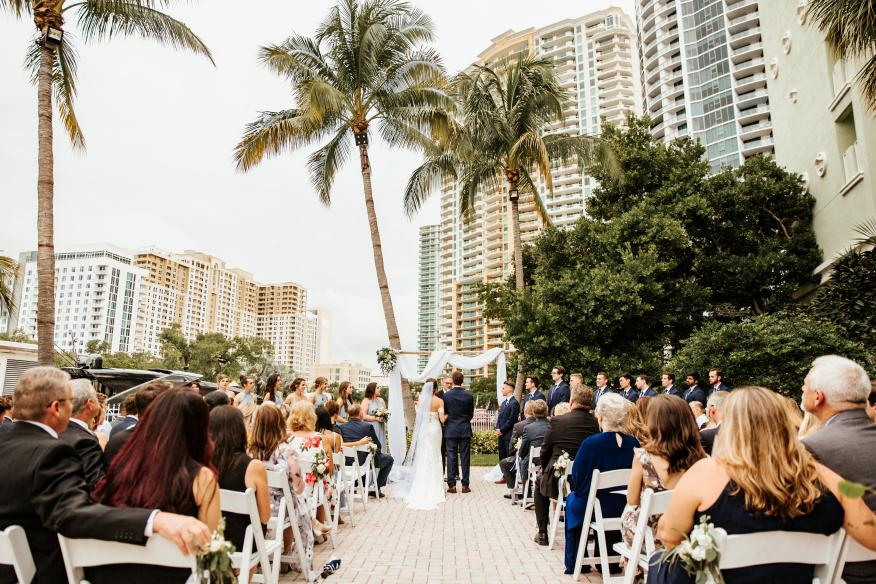 Walk down the aisle in paradise at the Riverside Hotel