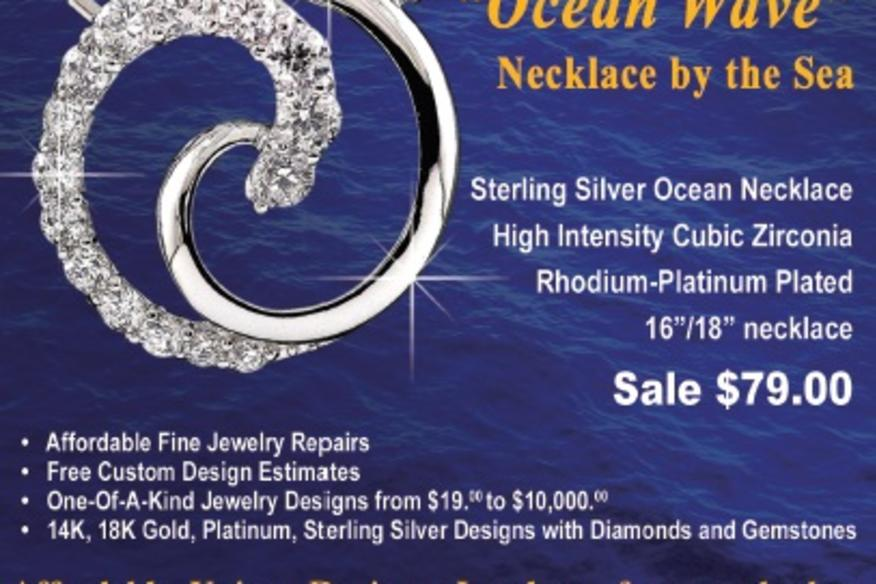 Ocean Wave Necklace by Argenti Designer Jewelers