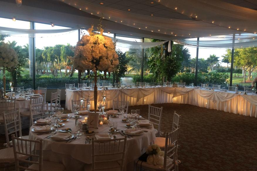 ballroom overlooking golf course
