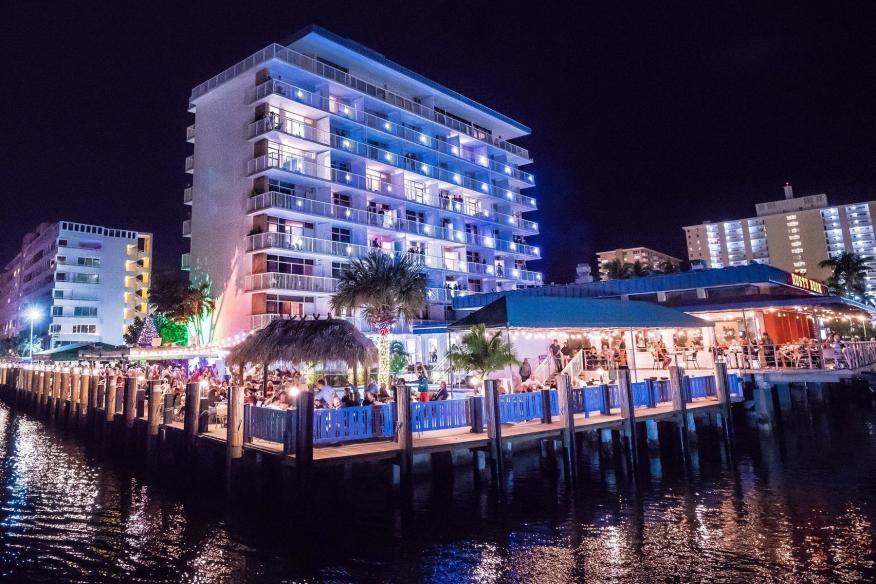 Sands Harbor Resort Exterior- Night