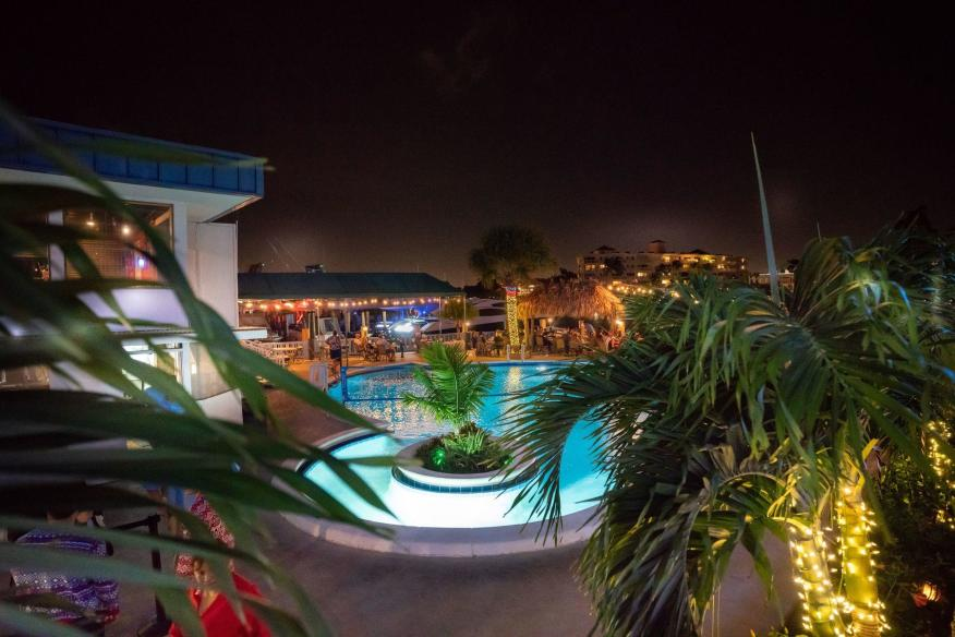 Outdoor Pool at Night