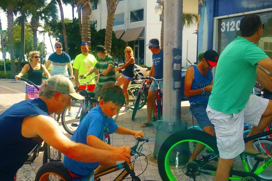 Family Renting Bikes
