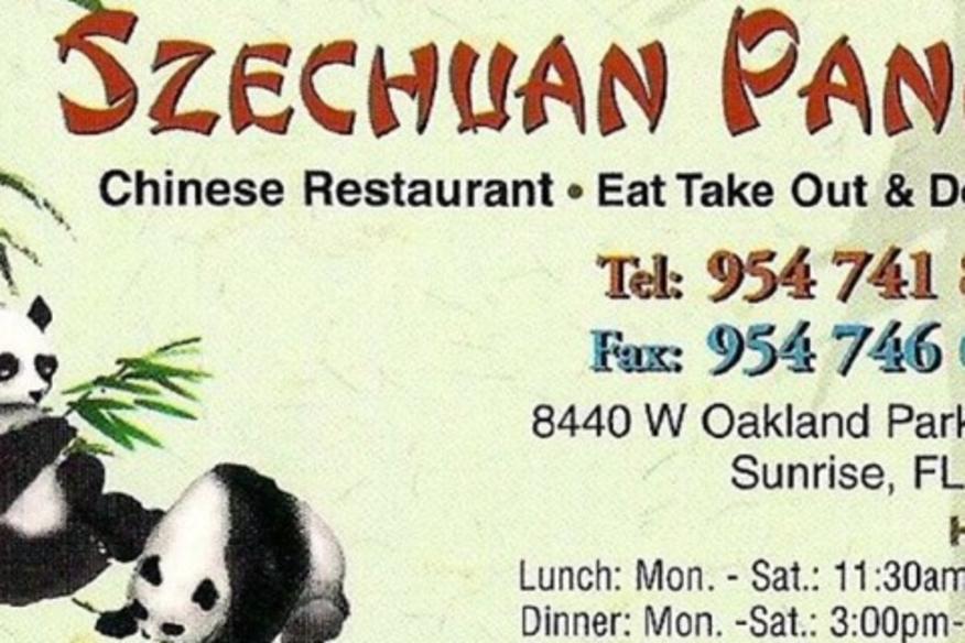 SZE-CHUAN PANDA CHINESE RESTAURANT