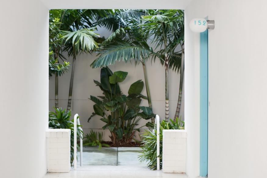 Exterior hallway arch