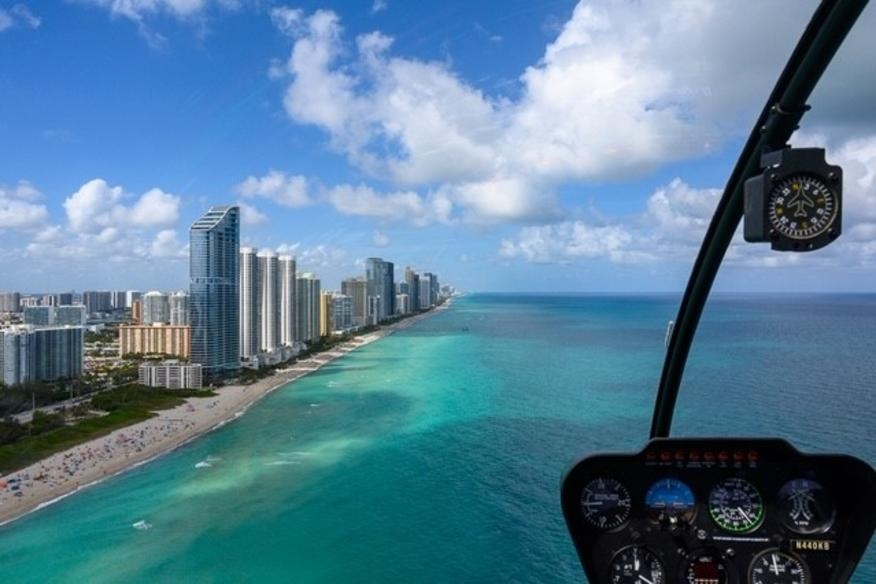 Beach View from Helicopter