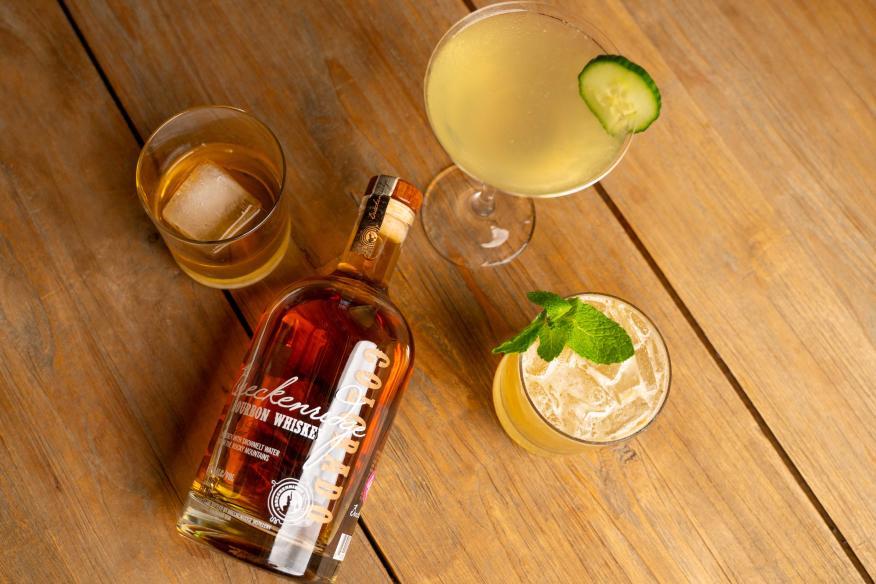 Breckenridge Snowmelt Bourbon Whiskey - Bourbon Mule - Cucumber Martini