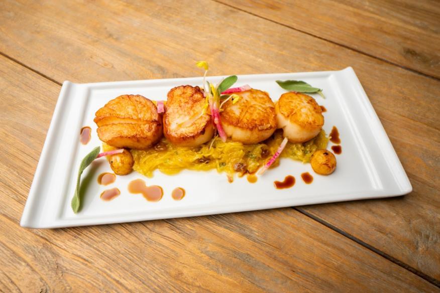 Pan Seared Bristol Scallops - Specialty Dish