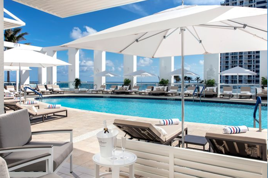 6th Floor Pool at Conrad Fort Lauderdale Beach with Ocean Views