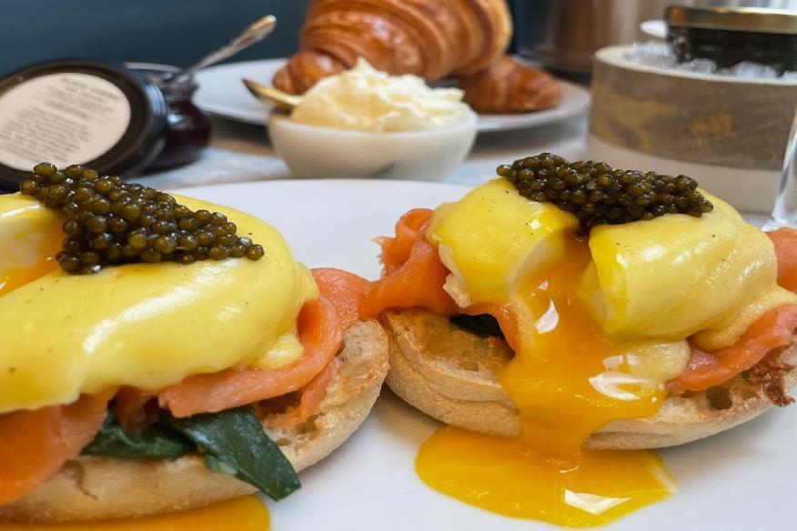 Lox and caviar