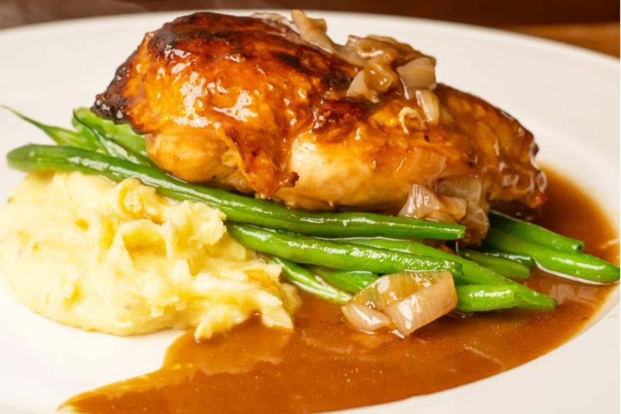 Pan Roasted Chicken Au Jus