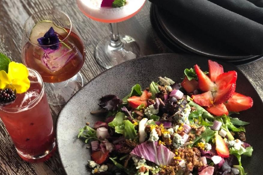 Craft Cocktails and Salad