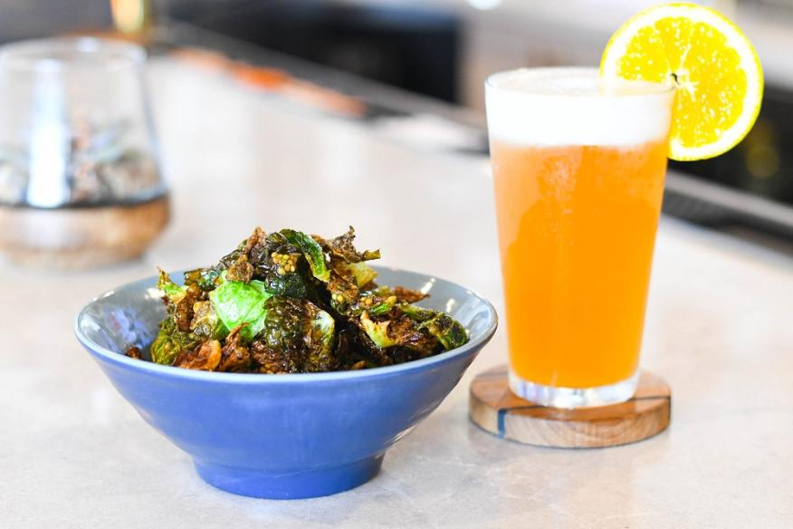 Crispy Brussel Sprouts with Draft Beer