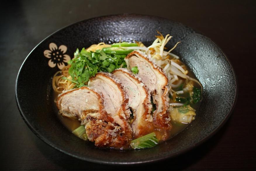 Crispy Duck Noodle Soup