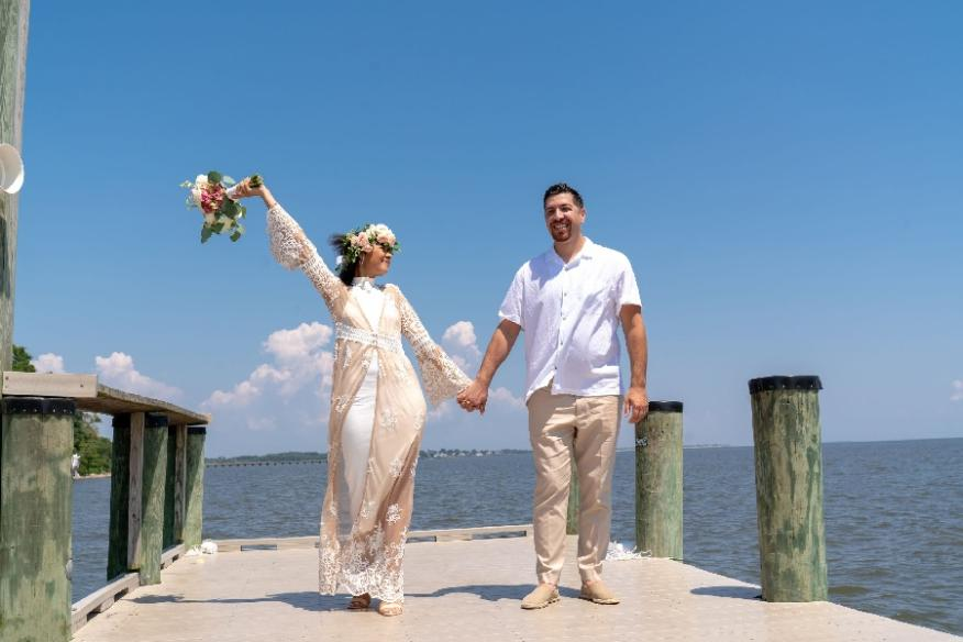 Dockside Couple