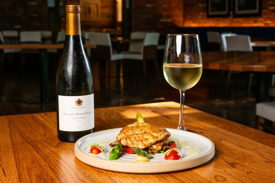 Florida Snapper with Hartford Reserve Chardonnay