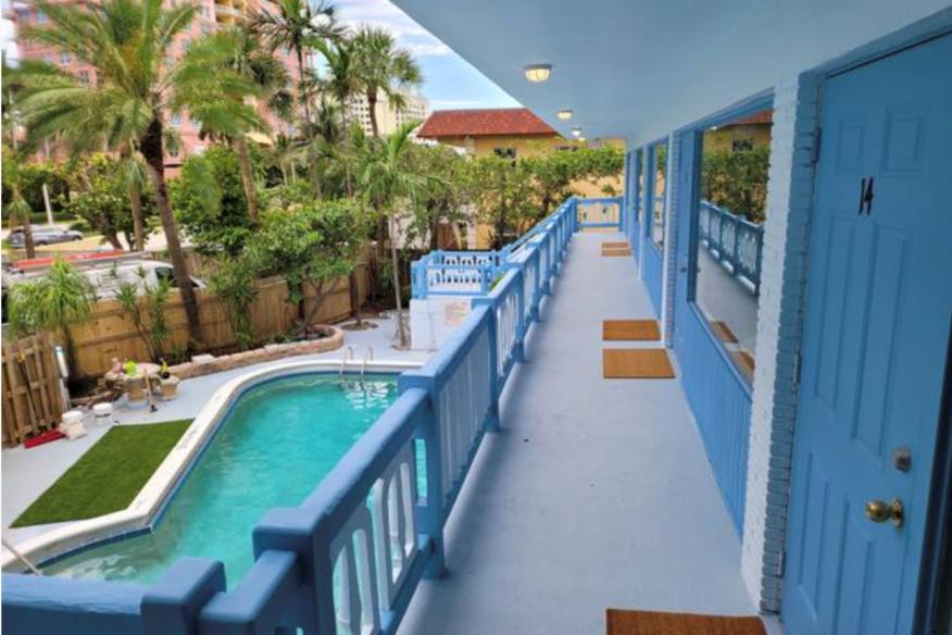 Pool Corridor View