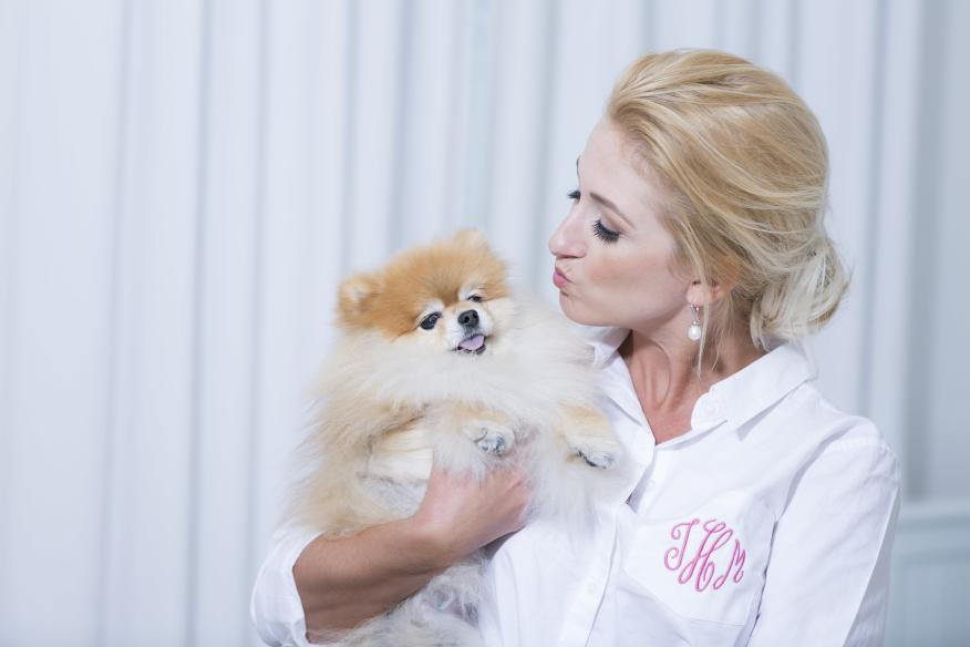 bride and doggie