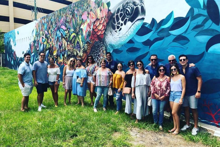 Tour by mural