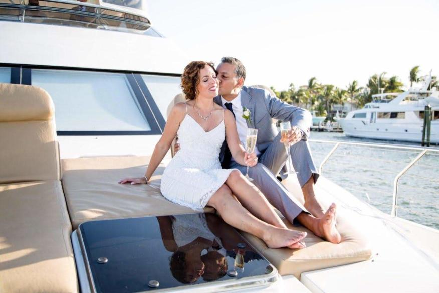 Wedding on the yacht