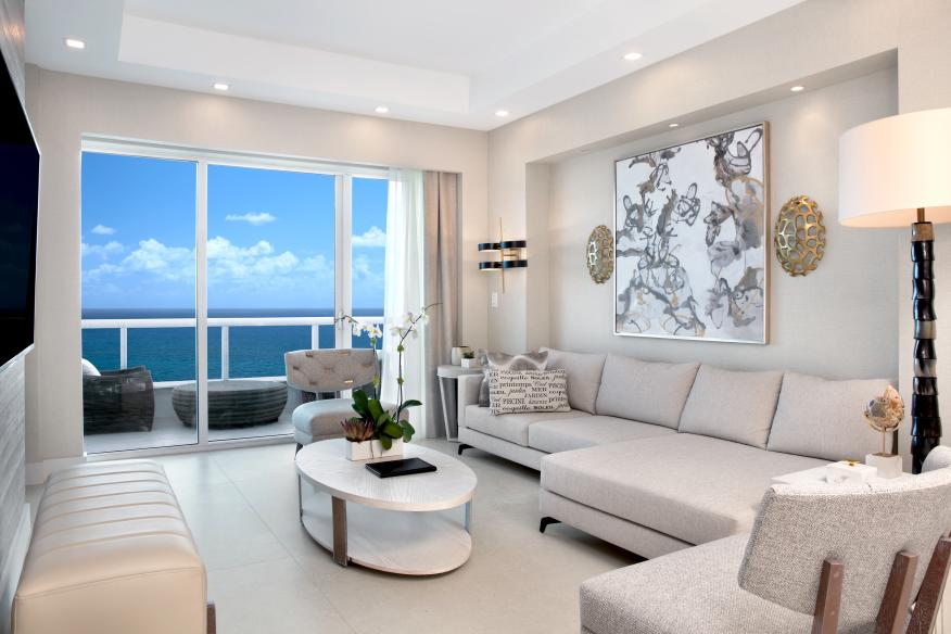 Penthouse Living Room at Conrad Fort Lauderdale Beach