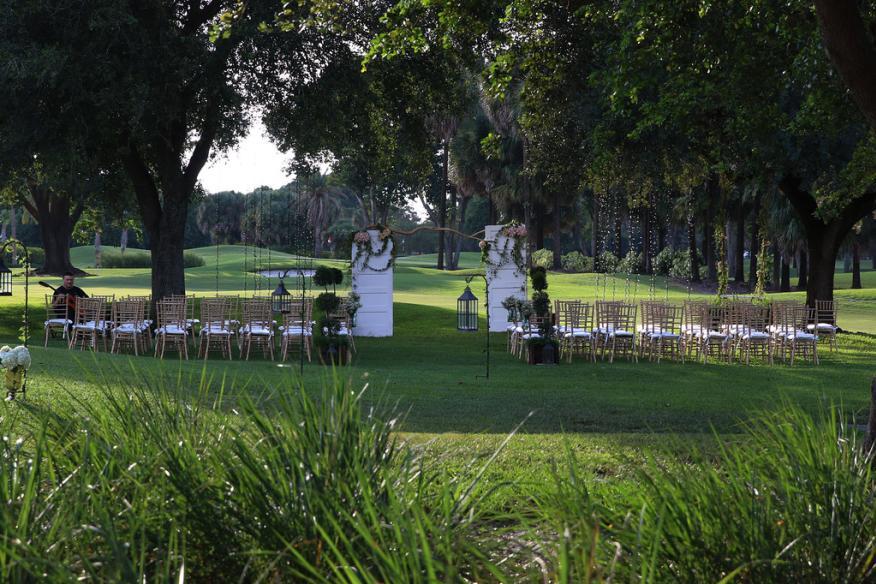 outdoor ceremony set-up