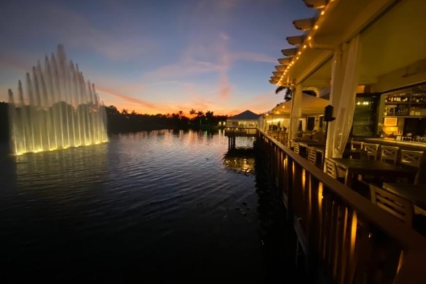 Déjà Blue Restaurants - Evening View