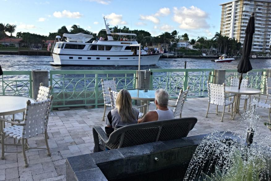 Waterfront terrace