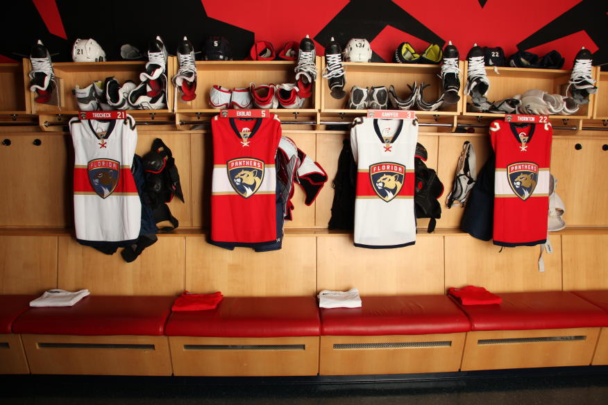 2016-17 Florida Panthers Locker room