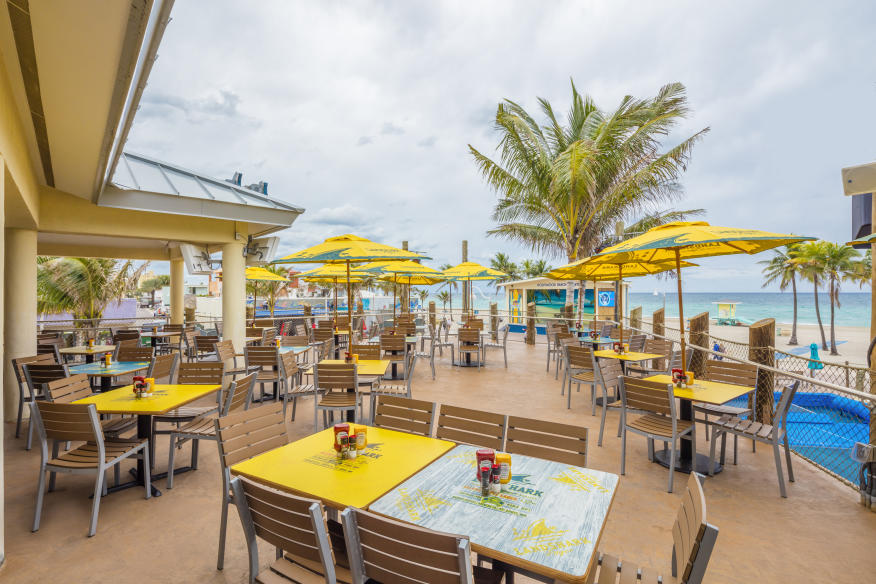 Landshark Bar & Grill - Beachside Dining Terrace - Overlooks Hollywood Beach